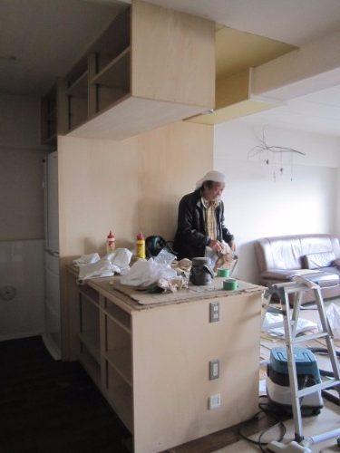 工事中 キッチン側