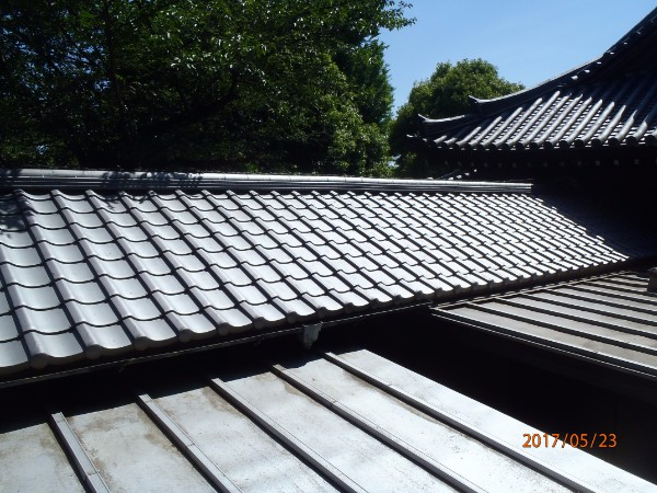 屋根葺き替え工事 完成