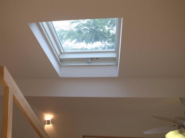 ロフトからの天窓