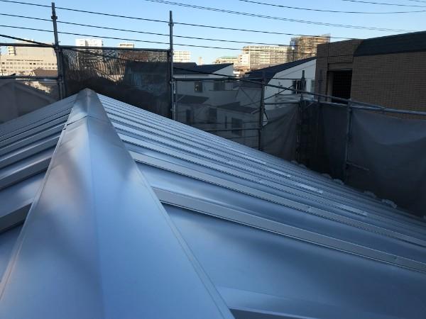 1階屋根の葺き替え